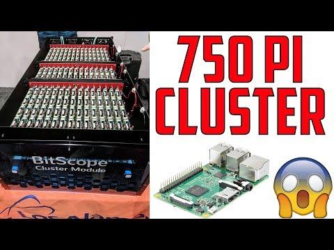 750 Raspberry Pi 3 (Cluster Supercomputer)
