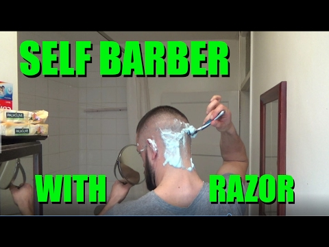 HOW TO CUT YOUR OWN HIGH BALD SKIN FADE WITH A RAZOR - SELF BARBER