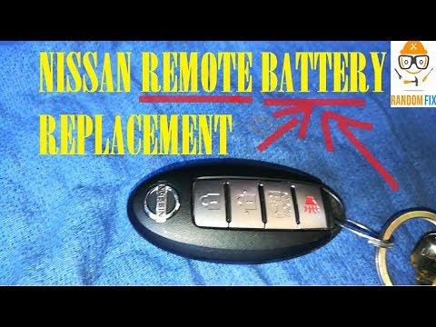 How  to Replace Nissan KEY FOB Remote Battery 2011 2012 2013 2014+ Intelligent