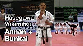 Hasegawa Yukimitsu teaching kata Annan (Ryuei ryu) + bunkai - Karate All Stars 2013
