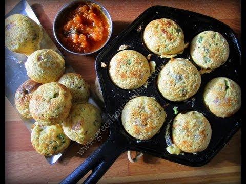 Oats paniyaram/savory oats pan-pops (low fat)