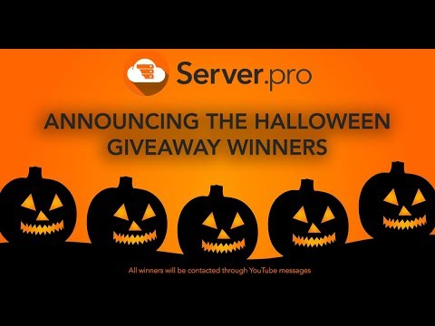 Announcing the Halloween Giveaway Winners - Server.pro