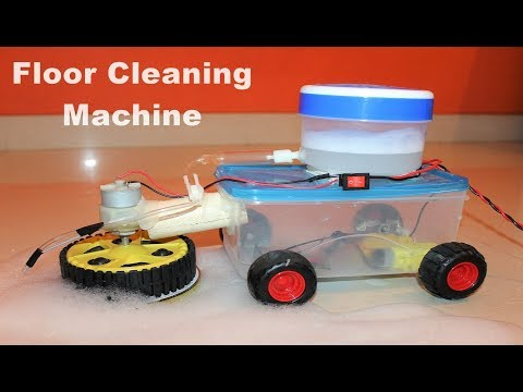 How to make a Floor Cleaning Machine EASY - Remote controlled