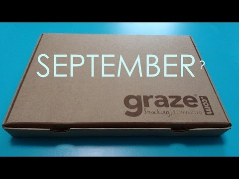 GRAZE snack box - September 2014 - Taste Test / Review