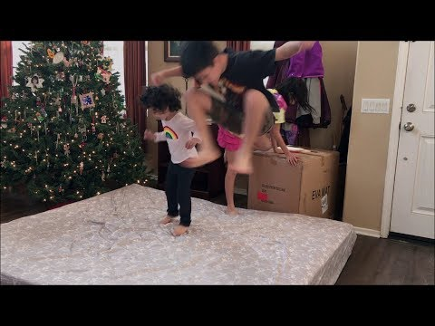 Fun Mattress Jumping by the Childs Family kids