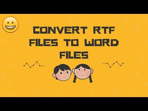 Convert RTF Files to Word Files In Just 5 Easy Steps