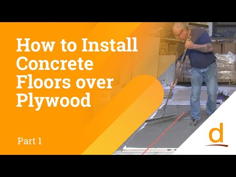 How to Install Concrete over Plywood? Part 1/4