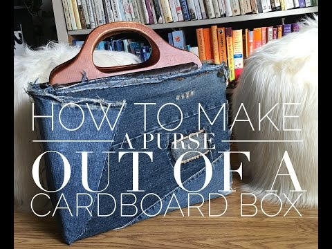 DIY- How to Make a Cute Purse Out Of A Cardboard Box!