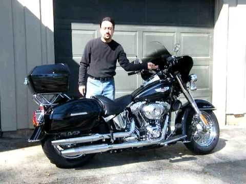 Harley Davidson Softail Deluxe -- Converted for Touring in 3 minutes