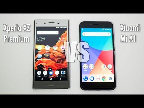 Sony Xperia XZ Premium vs Xiaomi Mi A1 4K Video Comparison