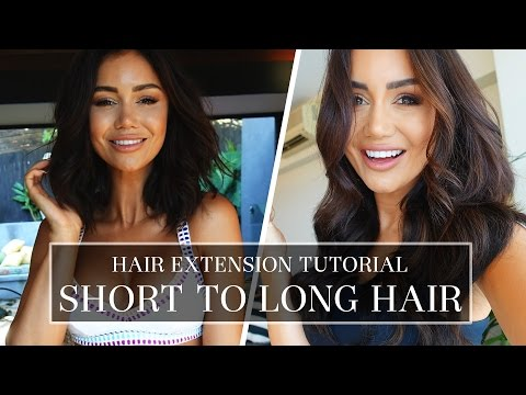 SHORT HAIR TUTORIAL - TIPS AND TRICKS FOR PERFECT CLIP-IN HAIR EXTENSIONS | Pia Muehlenbeck