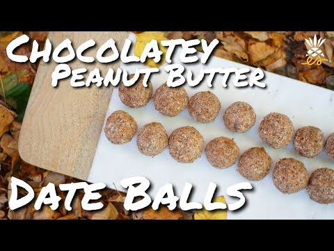 Easy Peanut Butter & Chocolate Date Ball Recipe (Vegan, Plant-based)