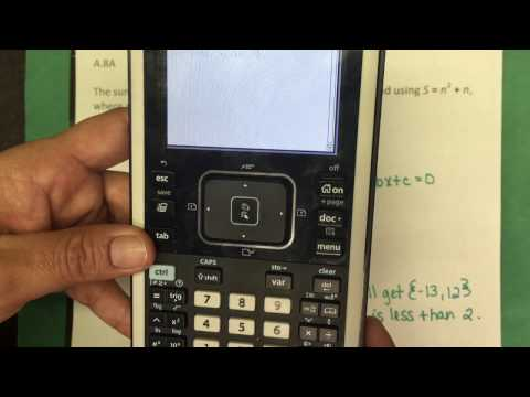 A.8A Solving Quadratic Equations with the TI-Nspire