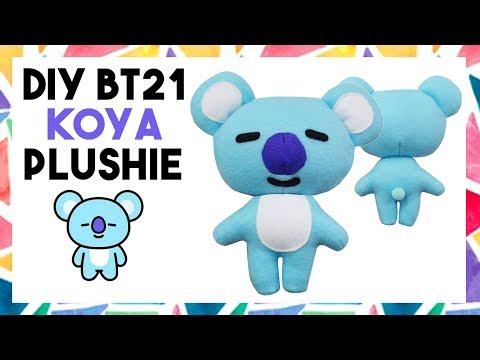 DIY BT21 KOYA PLUSHIE! (FREE TEMPLATE) [CREATIVE WEDNESDAY]