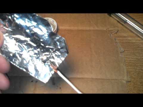 How to Solder copper wire to aluminum foil.