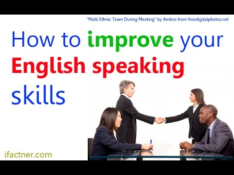 How to improve English speaking skills | English conversation lesson