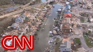 Aerial view shows catastrophic damage from Hurricane Michael