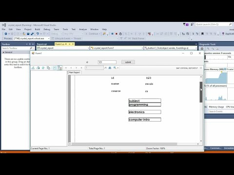create crystal report with parameter using multiple tables