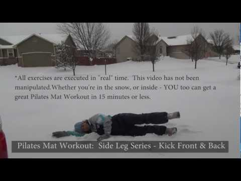 Pilates Mat Workout - Fun 15 Minute Workout (in the snow)