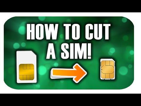 How to Cut a Micro/Mini Sim into a Nano Sim! (2017)