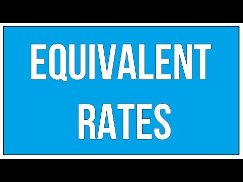 What Are Equivalent Rates-Introduction