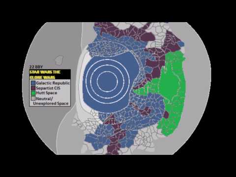 Star Wars The Clone Wars Galactic Map