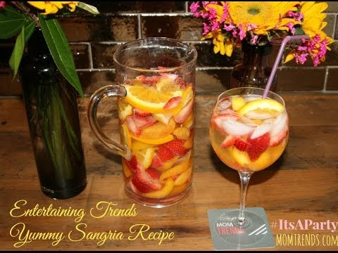 Easy Sangria Recipe and Flower Arranging tips