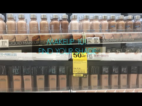 How To Find Your Foundation : Concealer Shade Color in DRUGSTORES | MAKEUP 101