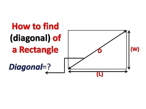 How to find the (diagonal) of a rectangle