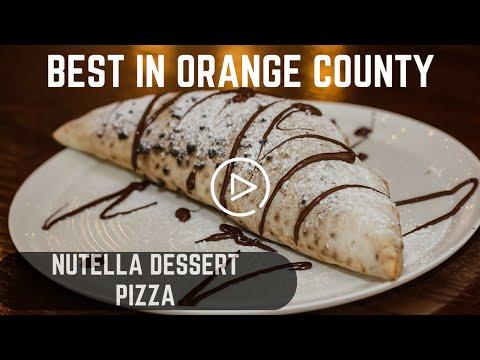 NUTELLA DESSERT PIZZA - BEST IN ORANGE COUNTY, CA