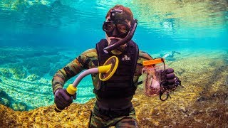 Found 20 Bullets Metal Detecting Underwater in a Public Swimming Spot! (Snorkeling) | DALLMYD