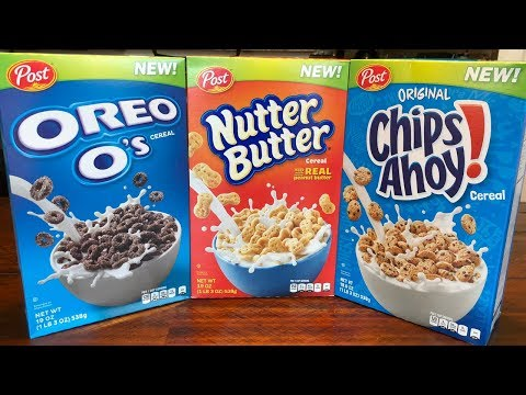 Nutter Butter - Chips Ahoy! - Oreo O's Cereal Review