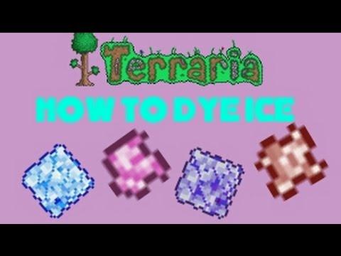 Terraria 1.2 | How to Dye Ice Blocks