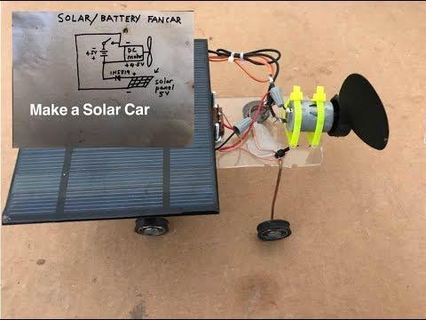 Make Solar Fan Car 🌞🌞🌞