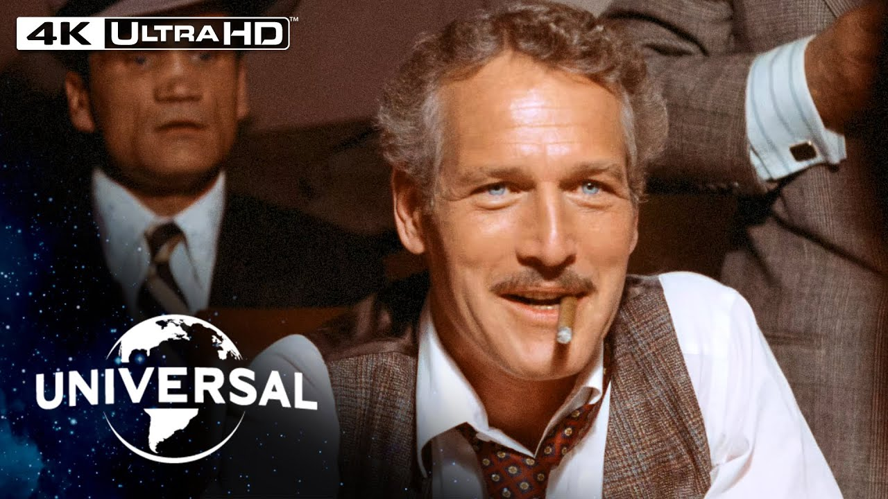The Sting | Paul Newman Cons a Con Man in a High-Stakes Poker Game in 4K HDR