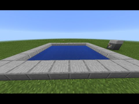 Minecraft Pe|How to make automatic swimming pool!!!