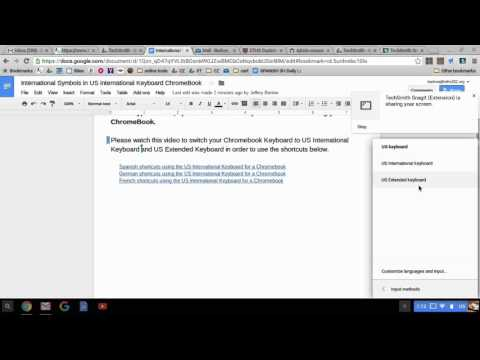 Changing Chromebook keyboard to type international symbols/characters