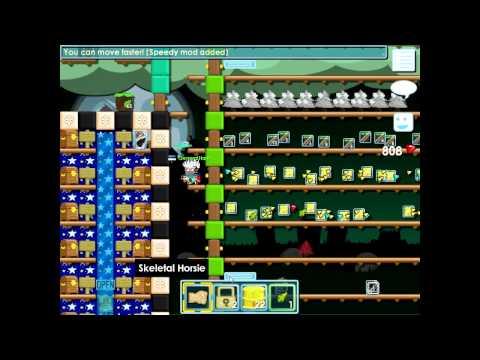 Growtopia - Harvesting 110 toxic waste barrel trees