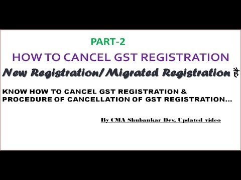 LIVE DEMO|HOW TO CANCEL GST REGISTRATION | PART-2