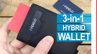 FIDELO Hybrid Wallet Review 3-in-1 Minimalist Pop-Up Card Holder |Unboxing