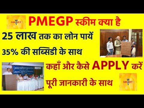 PMEGP | 25 लाख तक का लोन पायें | 35% की सब्सिडी के साथ | How To Apply In PMEGP For Loan In Hindi