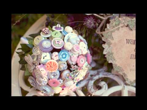 Springtime Fun with I Heart Buttons - Vintage Bridal Bouquets