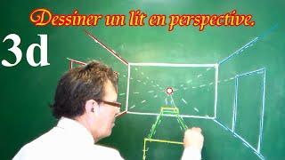 Dessiner en perspective (16/20) une chambre en 3D pas à pas | Music ...