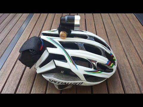Best and Cheapest Mount for LED Bicycle Helmet Cree Light