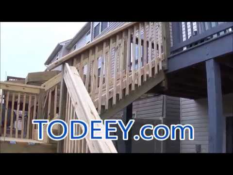 Building Deck Stringer Stairs | Two Story