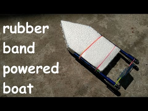 how to make rubber band powered boat
