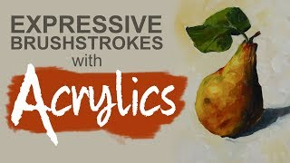 Download Expressive Brushstrokes with Acrylics - Painting Loosely Video