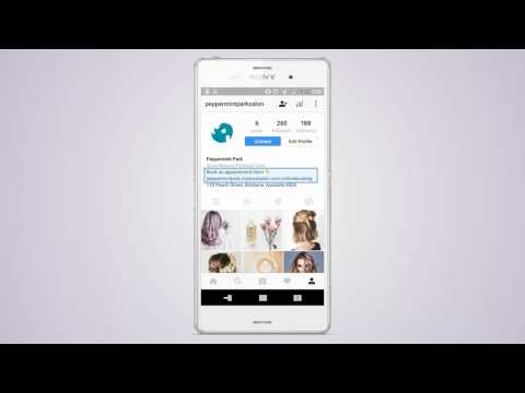 Shortcuts - Adding a contact button & online booking link to your Instagram