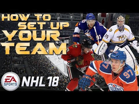 HOW TO SET UP YOUR HUT TEAM | NHL 18 | HOCKEY ULTIMATE TEAM (HUT)
