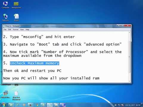 How to Fix Usable RAM memory size in windows
